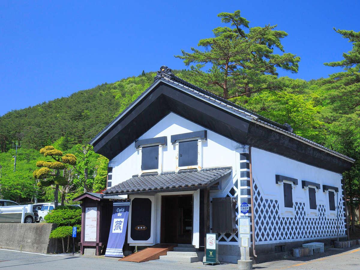【カフェ・ド・蔵】ホテル千秋閣の向かい側にあります。