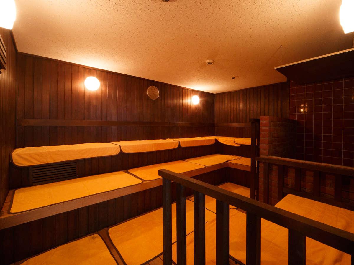 【大浴場 紅葉の湯】サウナ(80℃) 12:00~22:00、5:00~9:00