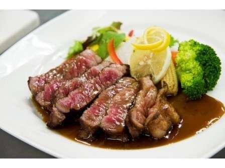 常陸牛ステーキ。焼き具合・お味をお選びください。
