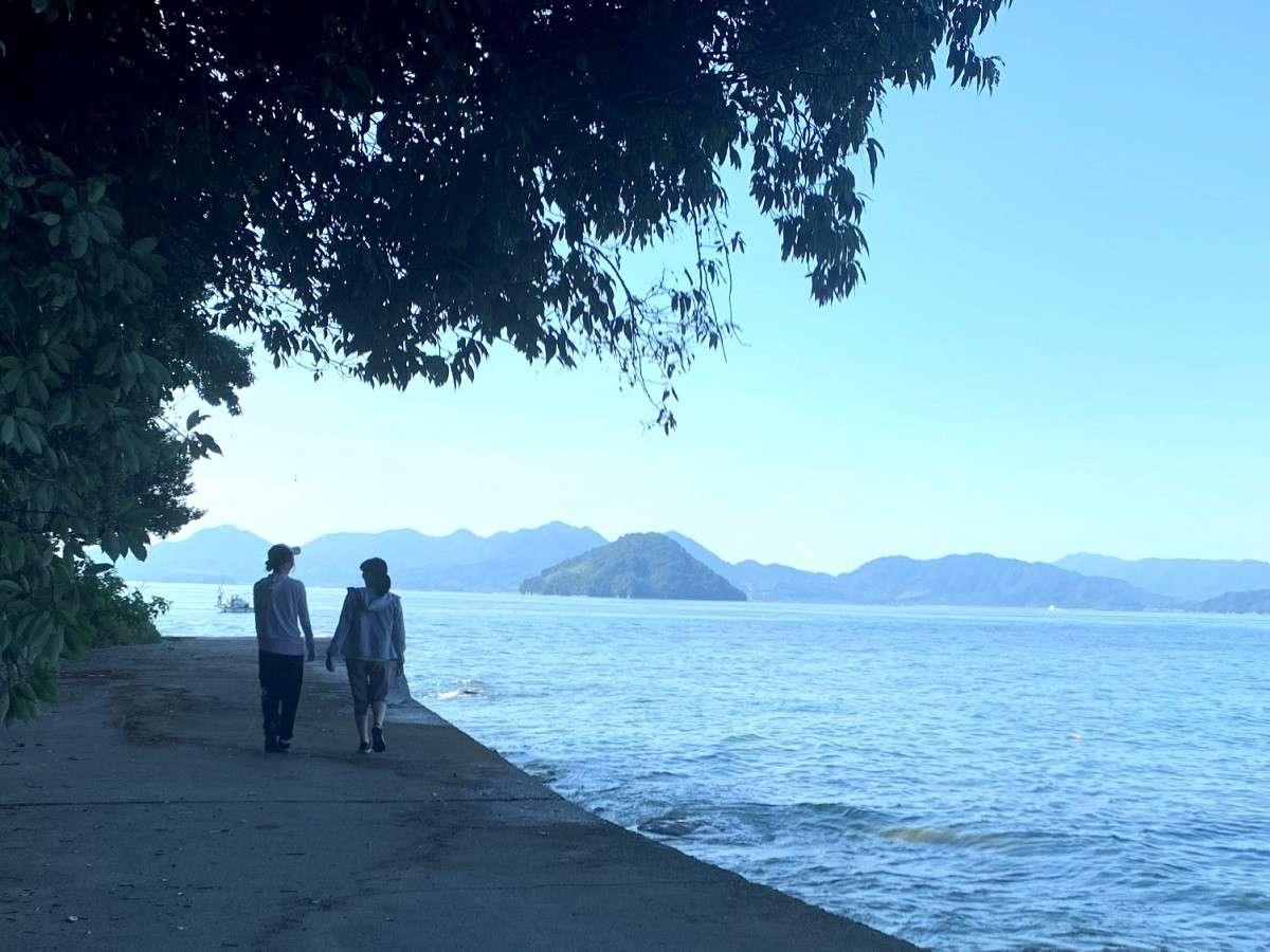 穏やかな瀬戸内海を眺めながら「海辺ウォーク」でリフレッシュ!