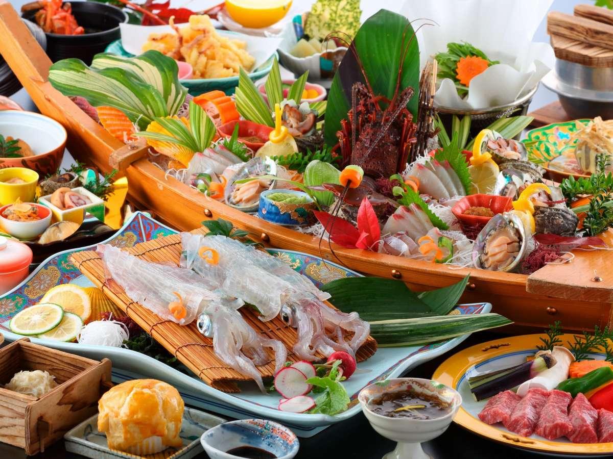 よぶこ産や地元唐津産の食材をふんだんに使った贅沢なコースです。