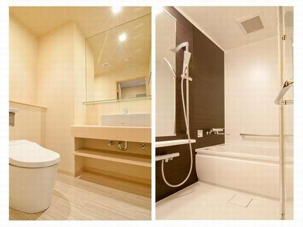 客室のお風呂は洗い場付♪ご家庭のようにお寛ぎいただけます