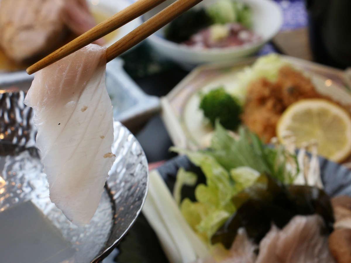 メカジキのしゃぶしゃぶはサッとお湯にくぐらせてお召し上がりください♪