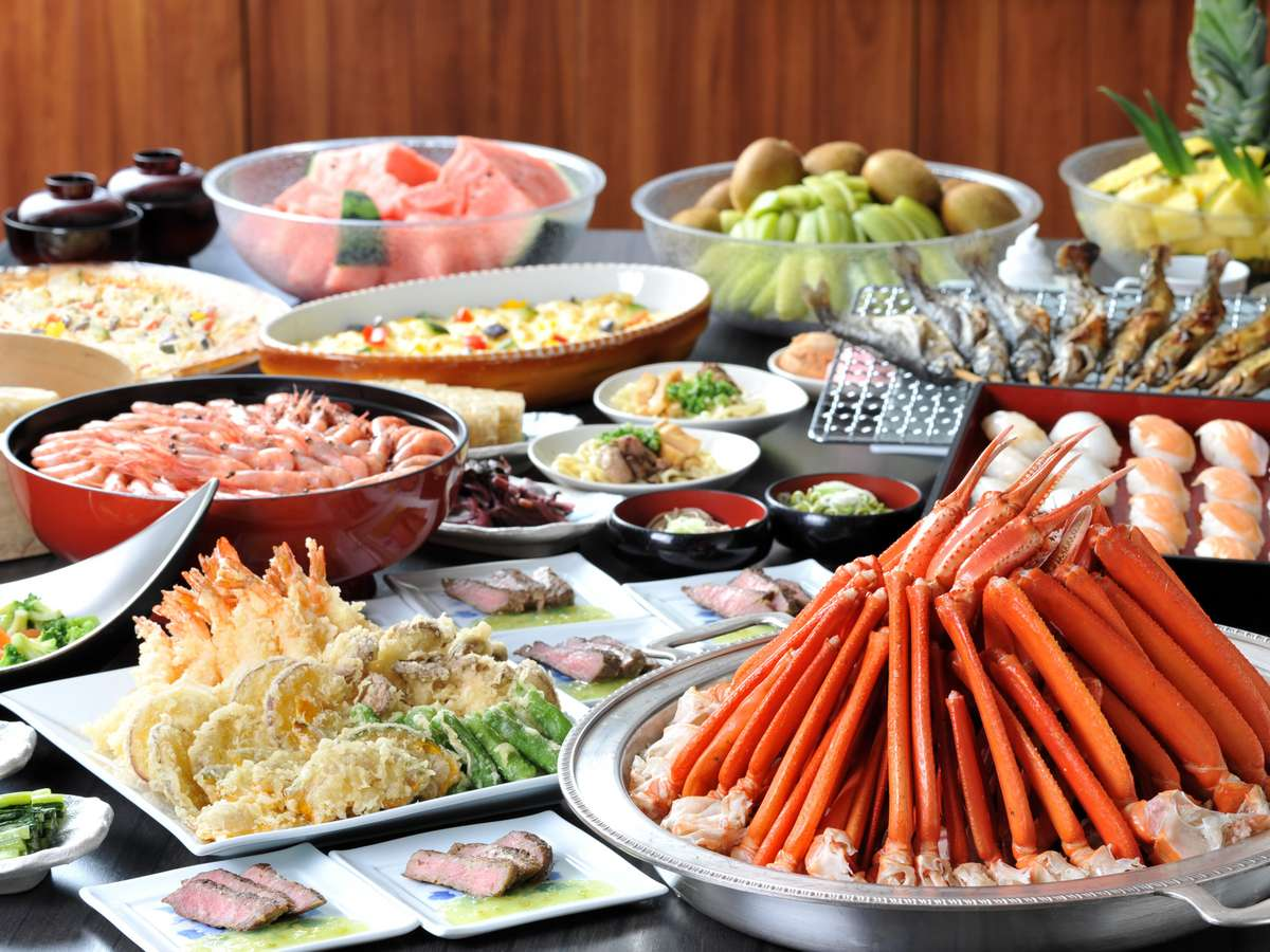 【夕食バイキング】好みが分かれても好きなものを好きなだけ♪皆でハッピーな夕食を。