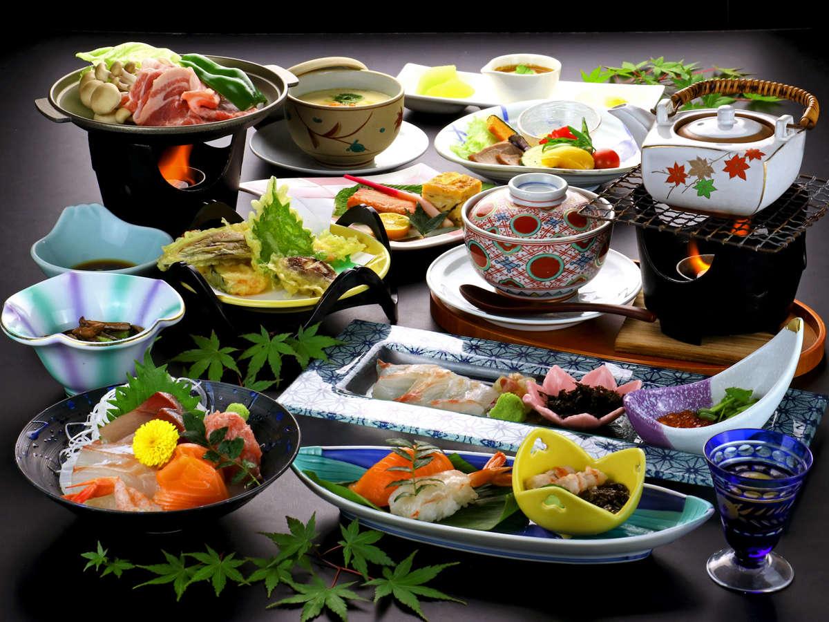 《鯛茶漬け会席》湯元館名物の鯛茶漬け!熱々のダシをかけて召し上がれ♪