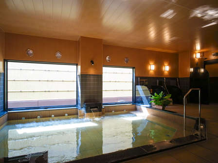 大浴場『旅人の湯』ご利用時間:15:00-2:00、5:00-10:00