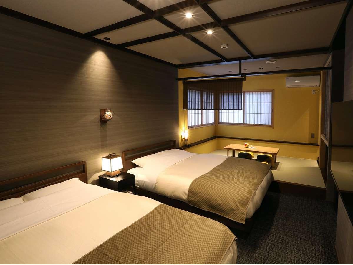黄土の間(グレードアップ和洋室)加賀五彩の『黄土(おうど色)』をモチーフにしたお部屋です