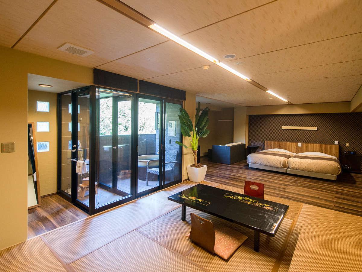 【客室一例】和モダンで統一された和洋室の客室をご用意致しました
