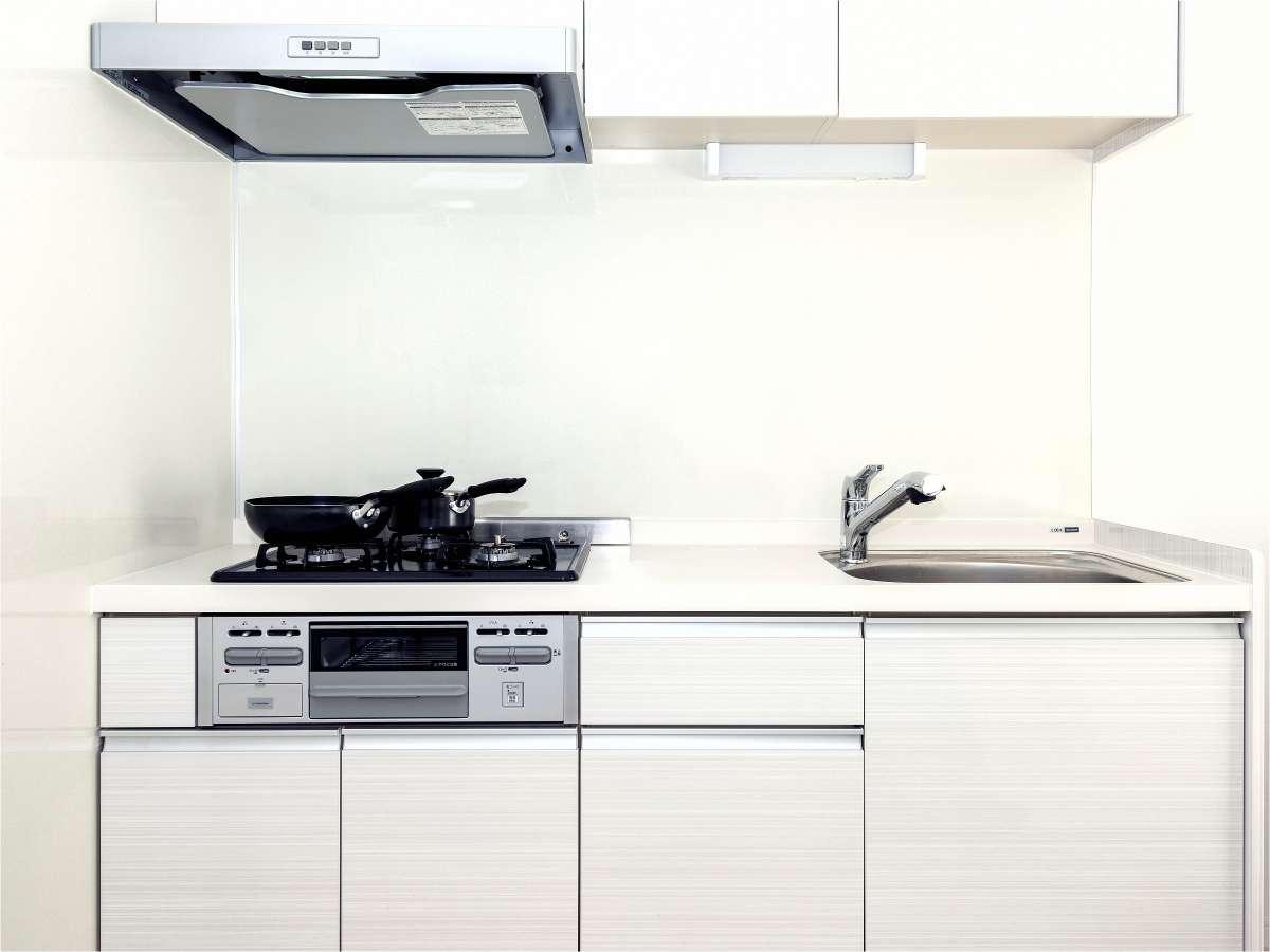 全室にキッチンを完備。