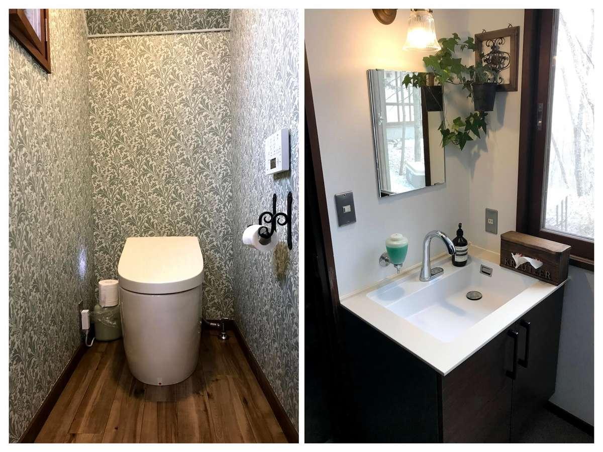 コロナ対策で1F共有部の水洗トイレ、洗面所を自動化しました。