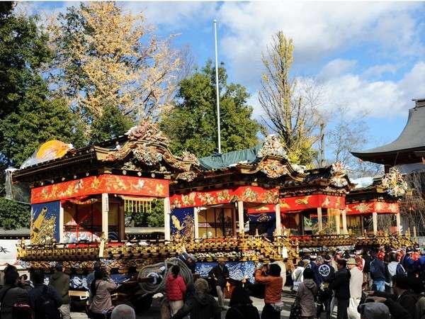 【秩父夜祭】毎年12月2日・3日に行われます。日本三大曳山祭りの一つです。