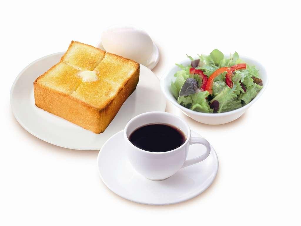 朝食(厚切りバタートース)朝食時間6:30~11:00