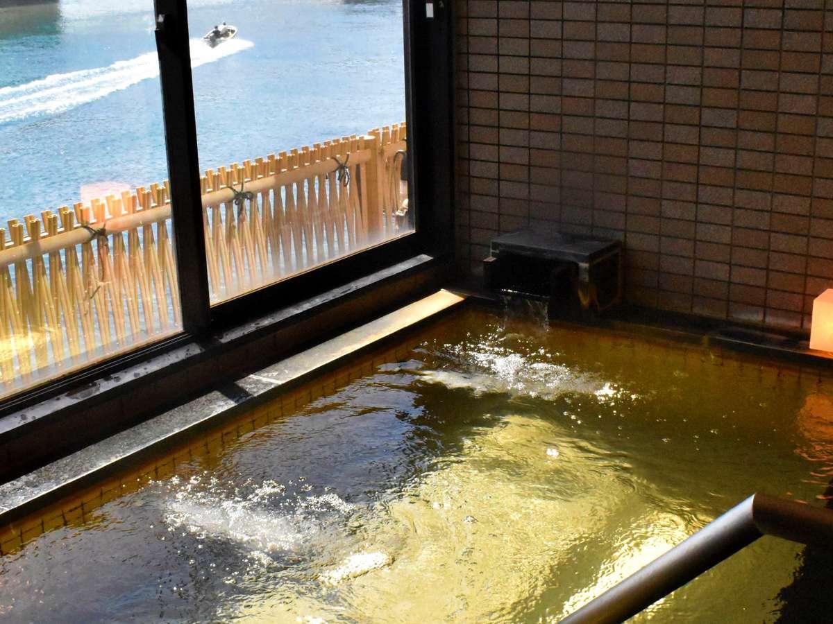 日本海臨む展望温泉