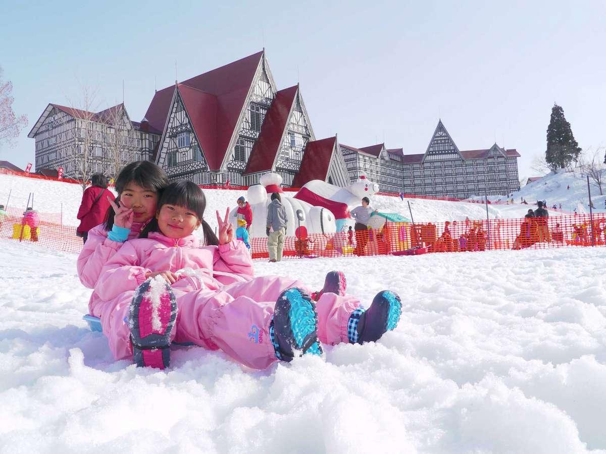 【ソリランド】雪遊びの原点・・ソリ!ビッグスケールでながーく滑れます!