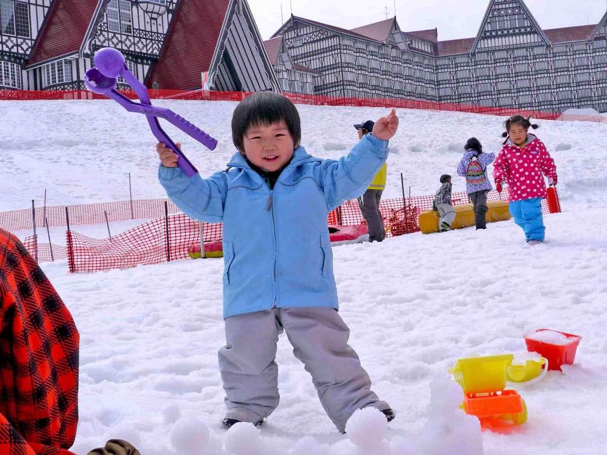【キッズパラダイス】そりや雪あそびアイテムも沢山!お子様大満足♪