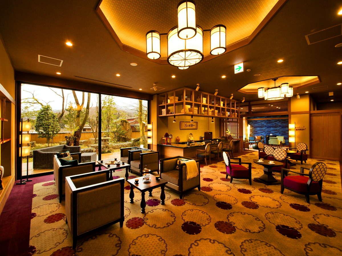 新館-彩心-◆ロビー◆オリジナルの和のアフタヌンーティーを両館全てのお客様にご用意しております