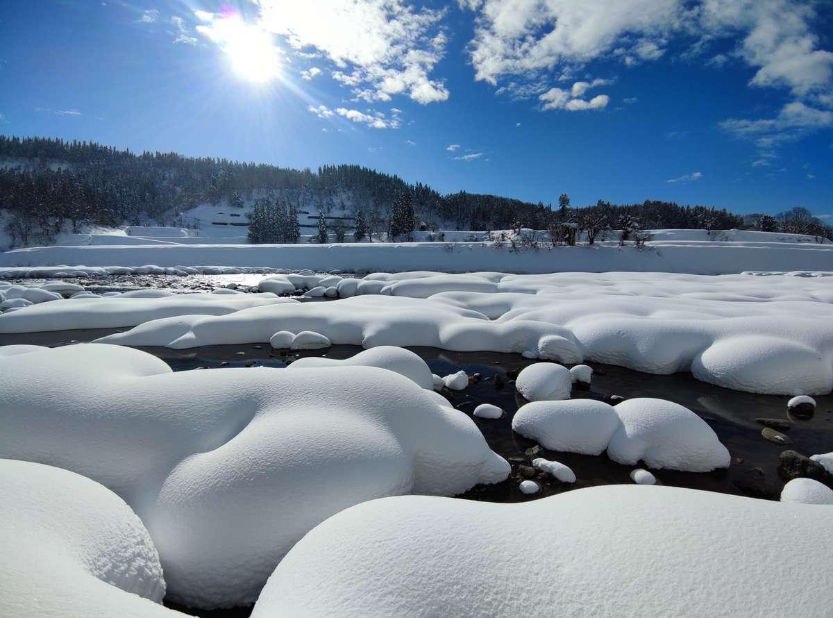 信濃川 冬景色