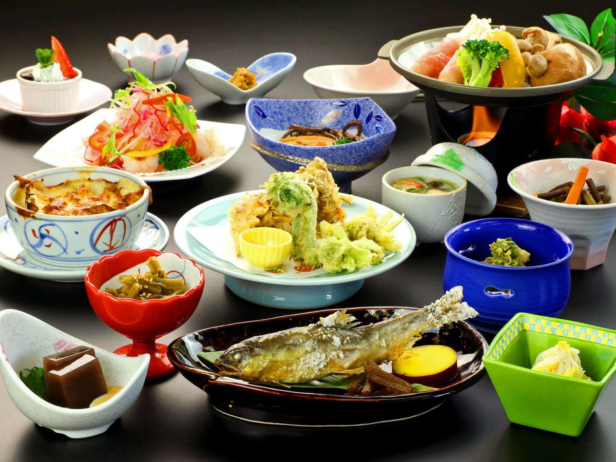 当館の基本料理コースの一例です。