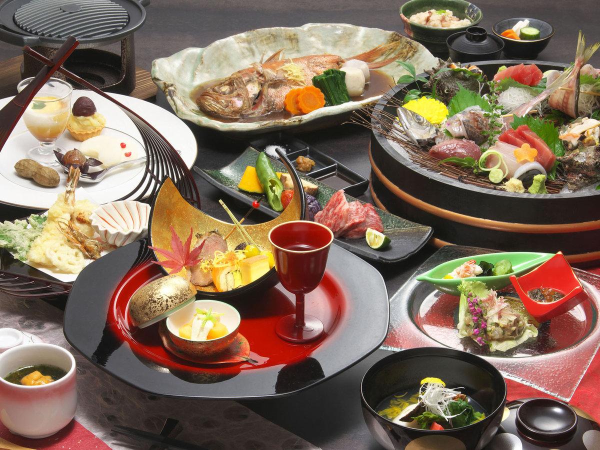 ご夕食一例(仕入れや季節によって異なりますのでイメージです)
