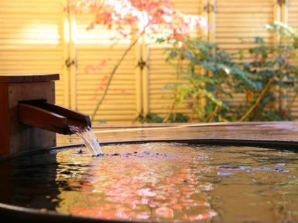 バリアフリー【露天風呂付和洋室】専用露天風呂で温泉三昧。