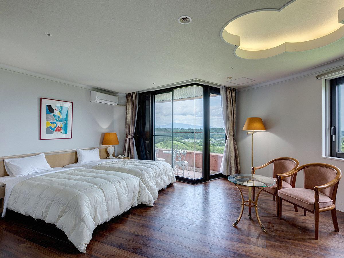 *【44平米ラージツインルーム】全室バルコニー付!広々ベッドで快適にお過ごしくだい。