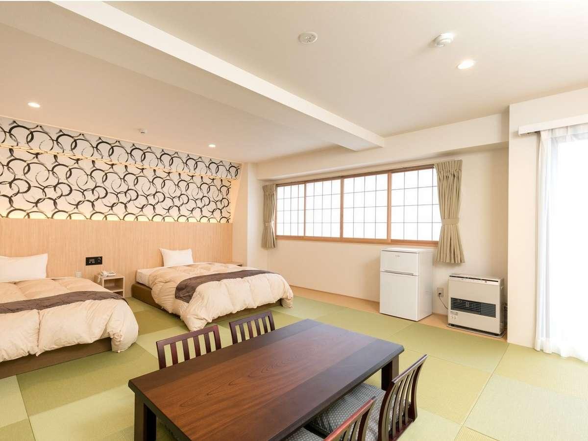 Pデラックス和室 2019年6月にリニューアルで清潔感溢れるモダンなお部屋に。禁煙