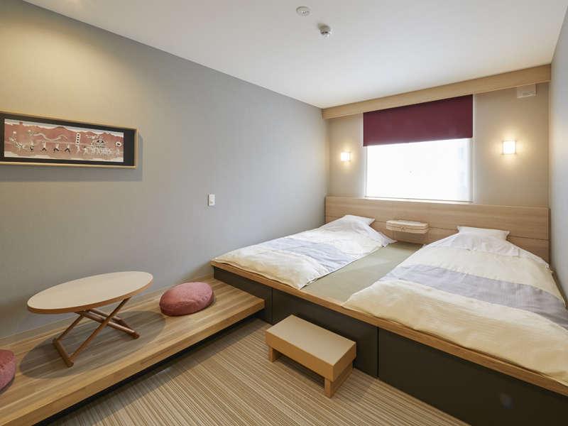 日本の伝統をモチーフにした客室。
