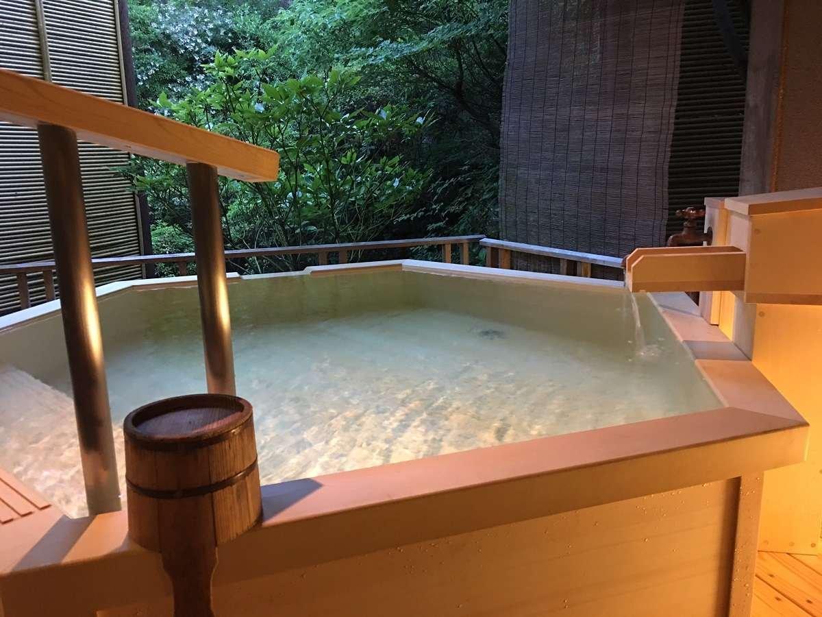 【無料貸切風呂:露天】「星」源泉掛け流し温泉 4種の貸切風呂がご予約不要で24時間利用可能