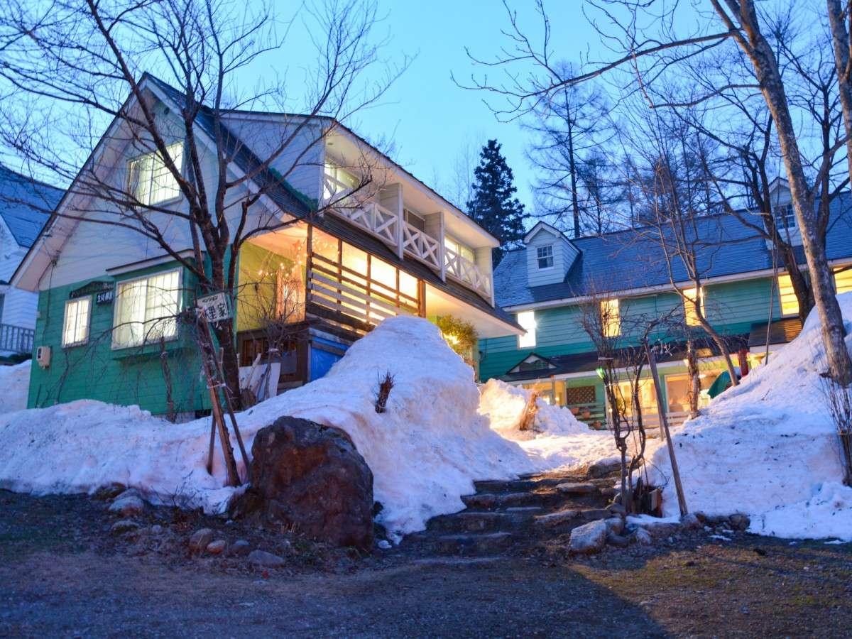 *外観・冬/合宿にもおすすめ。リーズナブルな料金でご利用いただけます。