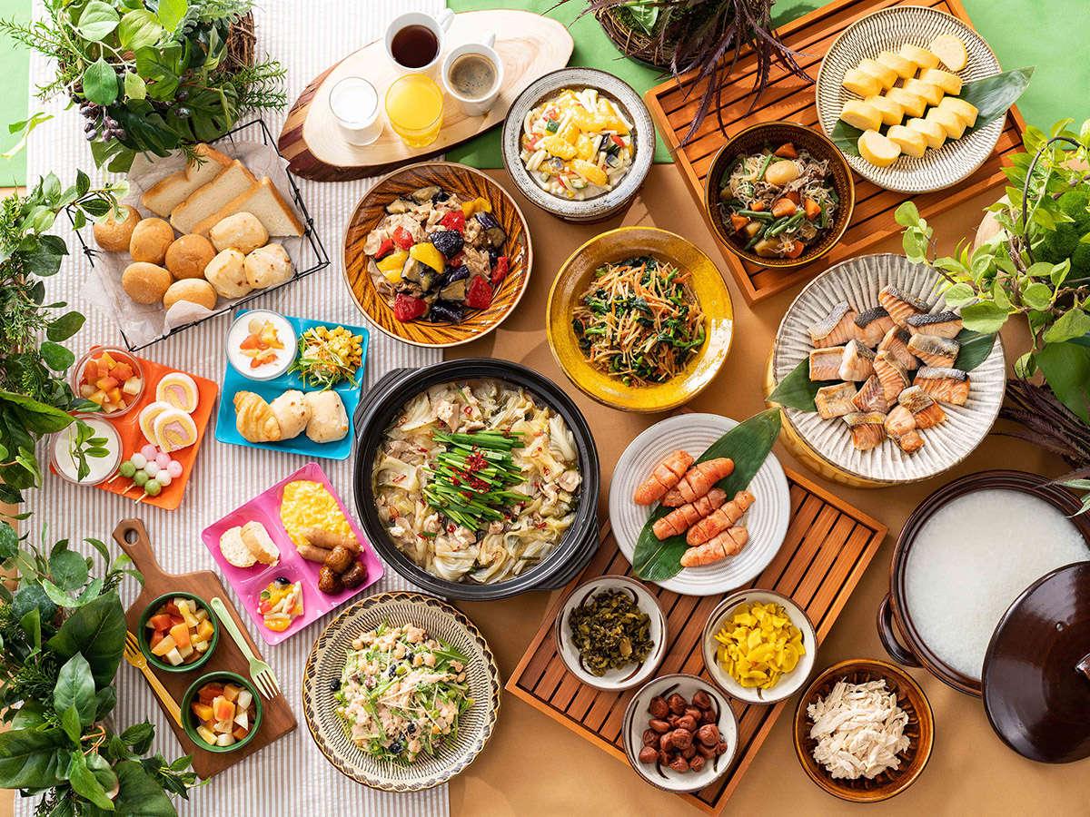 季節メニュー・ご当地メニューも取り入れた朝食★6:00~9:30★無料