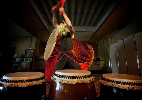 和太鼓ショーは夜の20:30~30分間の演奏です!!