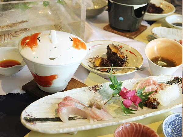 【料理】活きた魚介と新鮮なお造りを楽しめるプラン