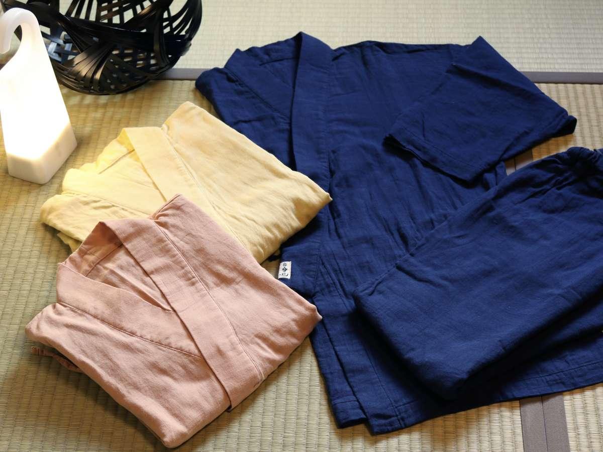 ダブルガーゼ素材の館内着は、おみやげとしてお買い求めになる方も