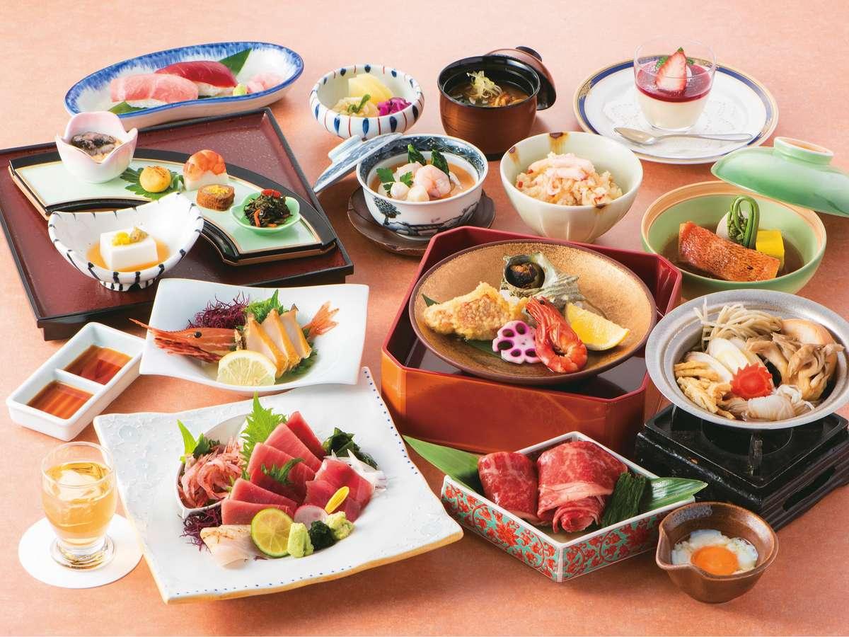 『お食事コース一例』海の幸や旬の食材を使用した和食会席