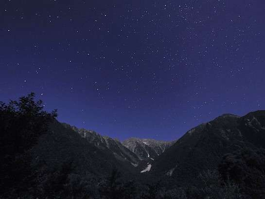 明かりのない上高地はスターウォッチングに最適。まさに天然のプラネタリウム。