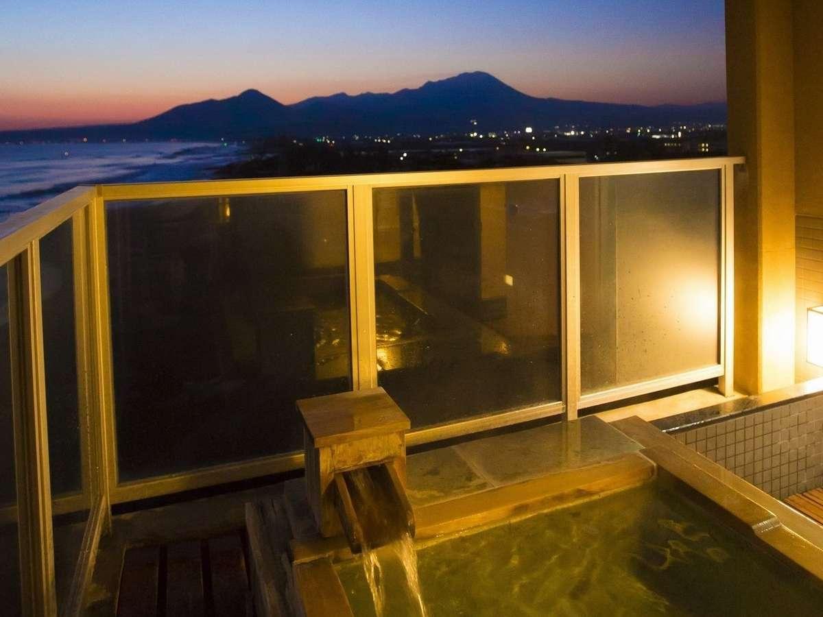 高層階ツイン70㎡大山・日本海を望む露天風呂