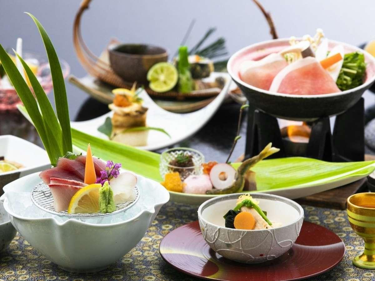 会席料理 リピーターも多い五感で楽しむ創作料理