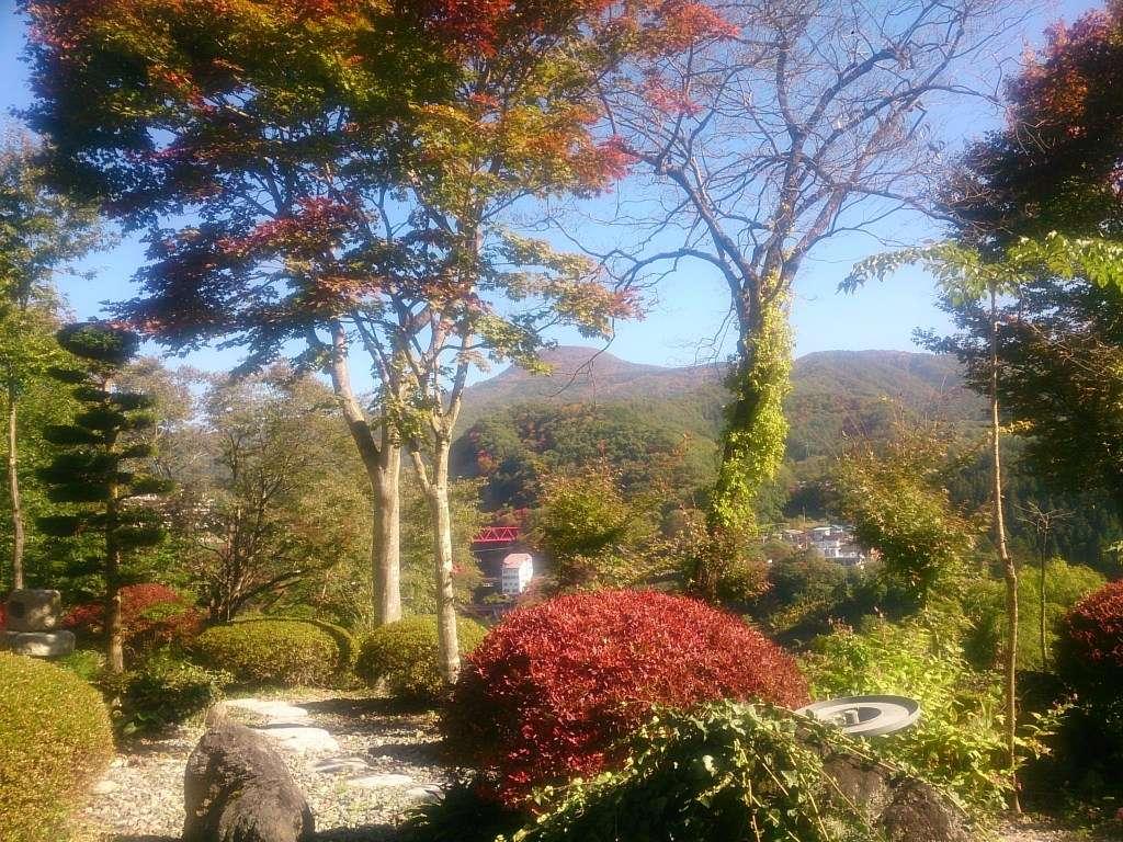 ロビーラウンジからの眺め 秋