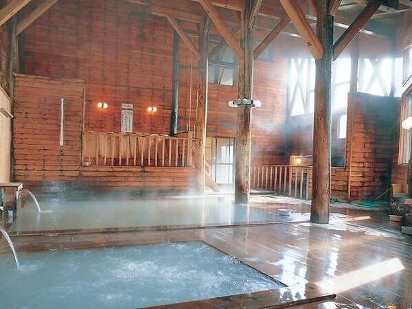 『大浴場』 効能豊かな後生掛温泉は、「馬で来て足駄で帰る」温泉と言われています。