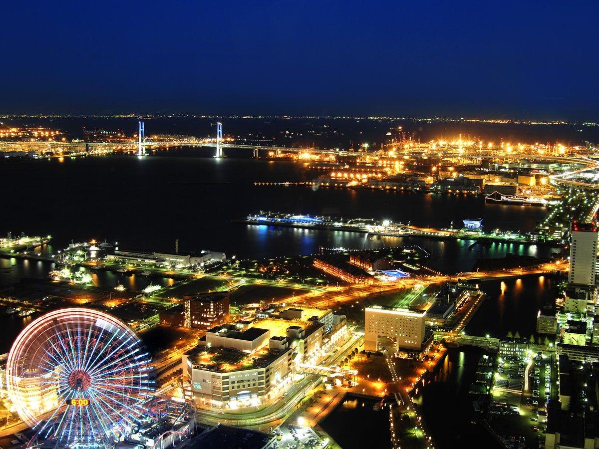 みなとみらい周辺の夜景(写真はイメージです。実際の眺望と異なる場合がございます。)