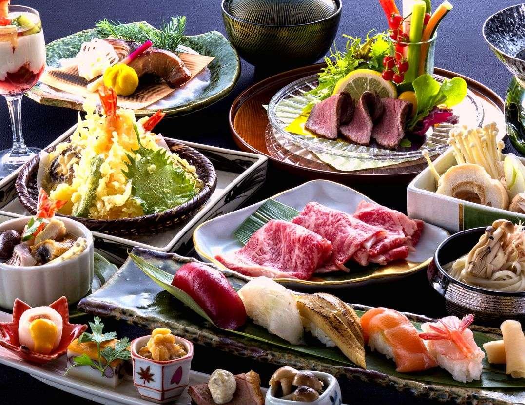 【すきやき・天麩羅・海鮮丼】ごっつお膳で日本食の魅力再発見! ※イメージ