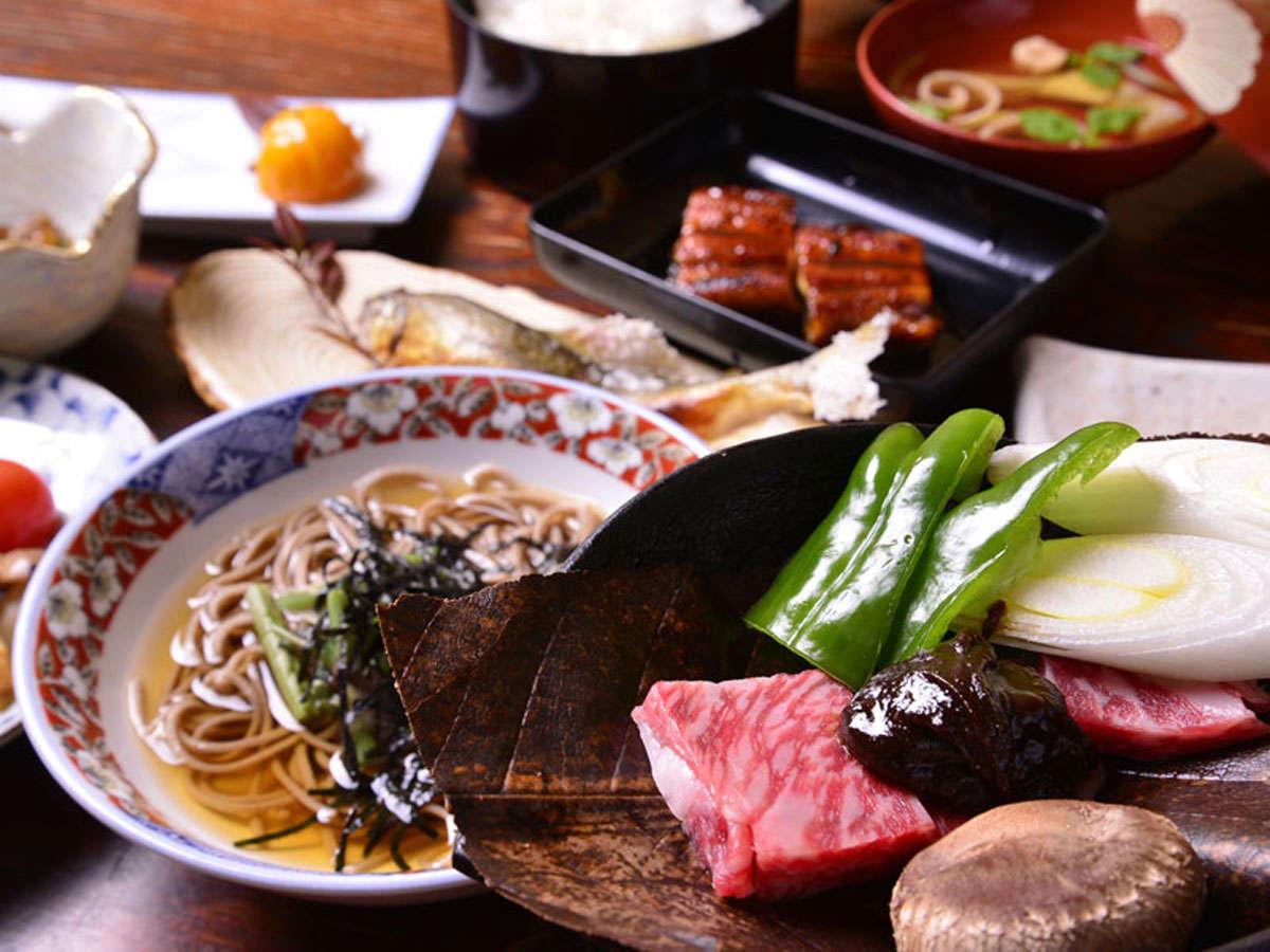 ご夕食一例/地産美味にこだわり、手造りと季節感を大切にした郷土料理をご堪能下さい。