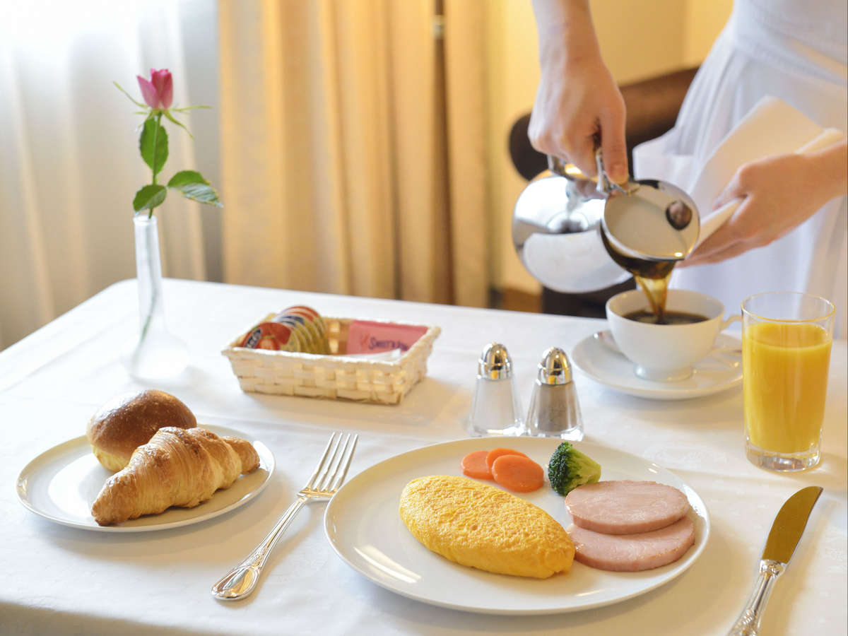 【ルームサービス朝食】アメリカンブレックファスト 忙しい朝もルームサービスでごゆっくりと。