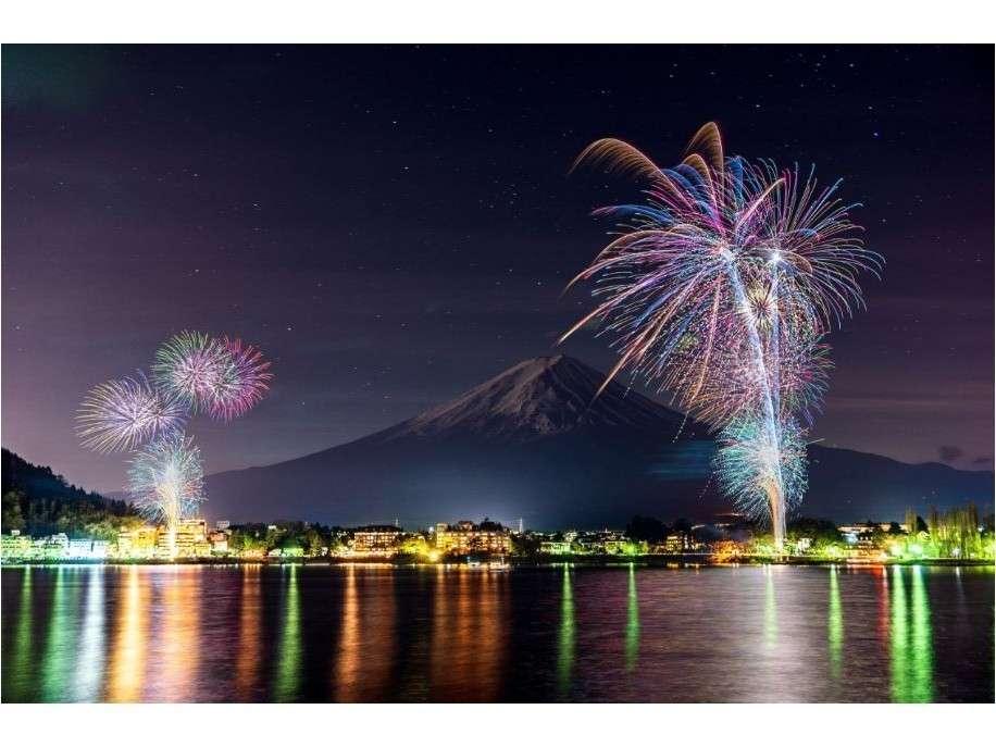 河口湖冬花火今年は3月12日~3月28日までの間の金・土・日曜日に開催します。