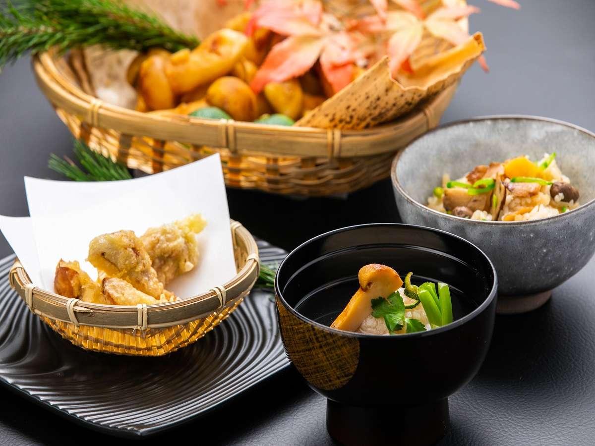 ステージキッチン シーズンメイン秋は松茸【天ぷら・椀物・釜飯】