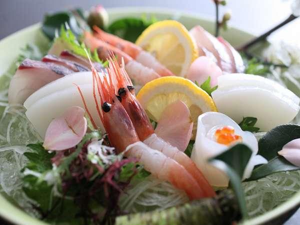 「但馬夏の玉手箱」のお料理例。旬魚がおいしい^^
