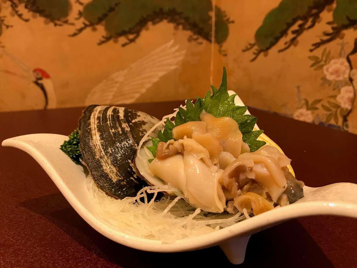 【春】~ホッキ貝のお造り~≪夕食≫