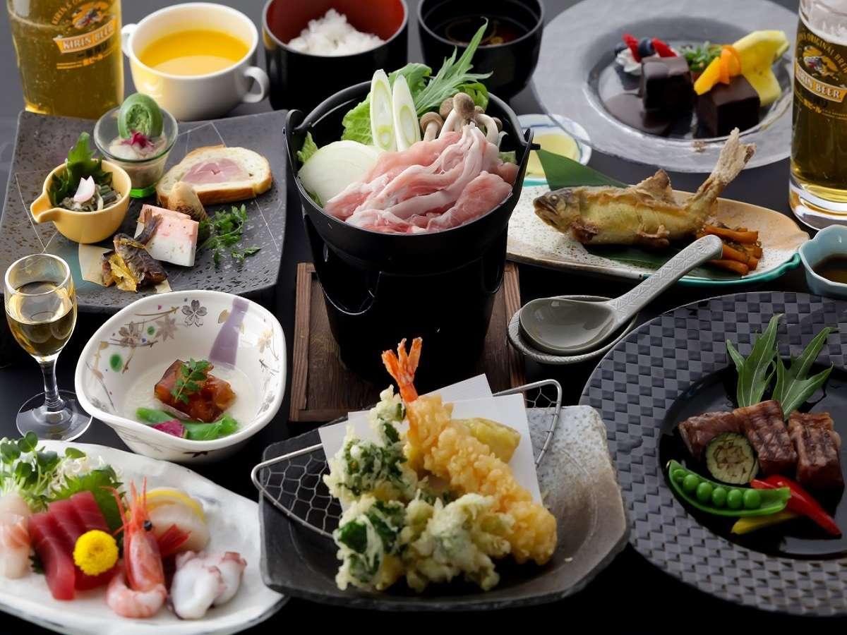 ホテルウィンザ-定番 清流会席♪※季節により料理内容は異なります。