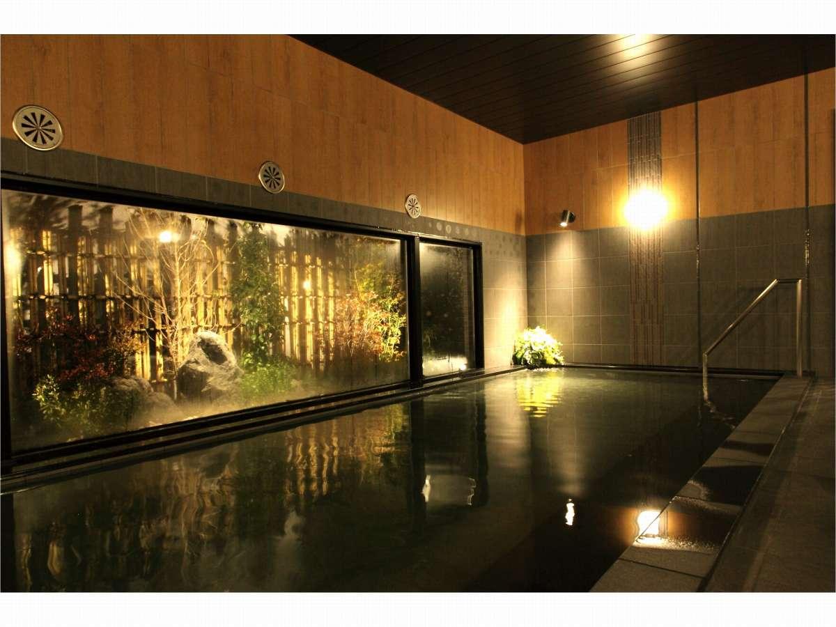 男性浴室【人工温泉大浴場「旅人の湯」】ご利用時間⇒15:00~02:00、05:00~10:00