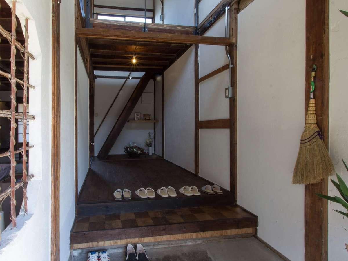 千代菊の玄関です。